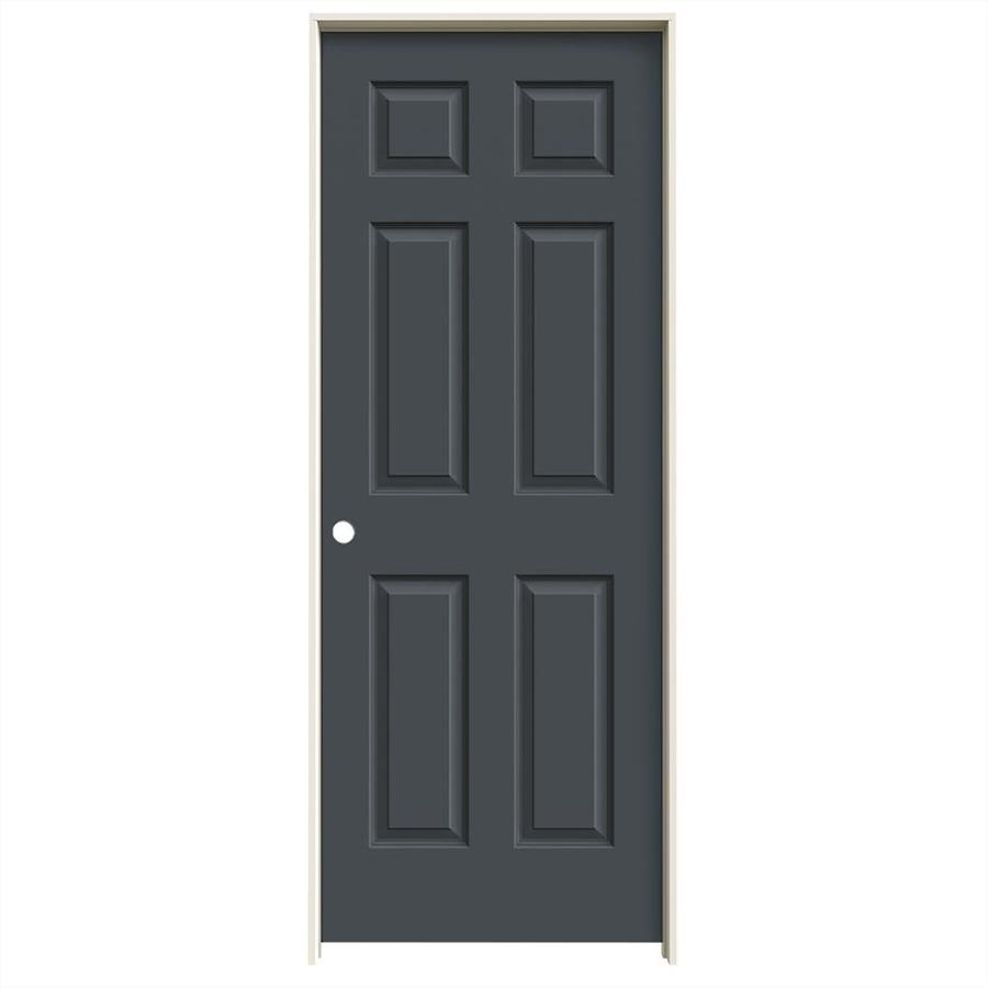 JELD-WEN Slate 6-panel Single Prehung Interior Door (Common: 24-in x 80-in; Actual: 25.562-in x 81.688-in)