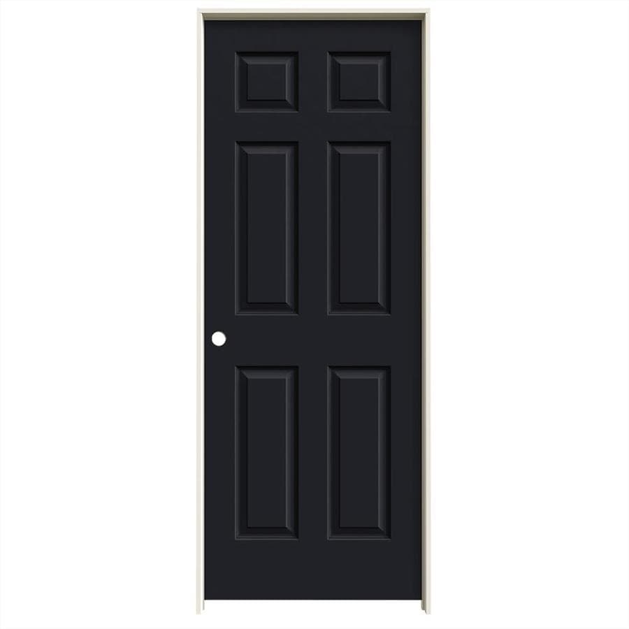 JELD-WEN Colonist Midnight Solid Core Molded Composite Single Prehung Interior Door (Common: 28-in x 80-in; Actual: 29.562-in x 81.688-in)