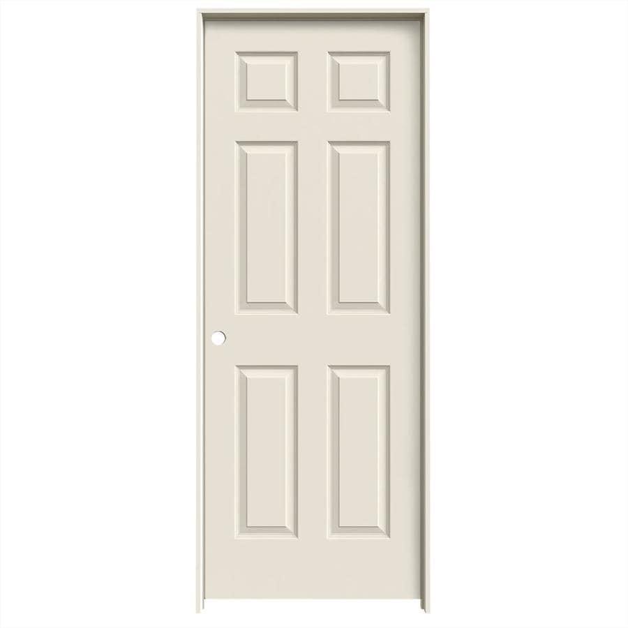 JELD-WEN 6-panel Single Prehung Interior Door (Common: 30-in x 80-in; Actual: 31.5620-in x 81.6880-in)