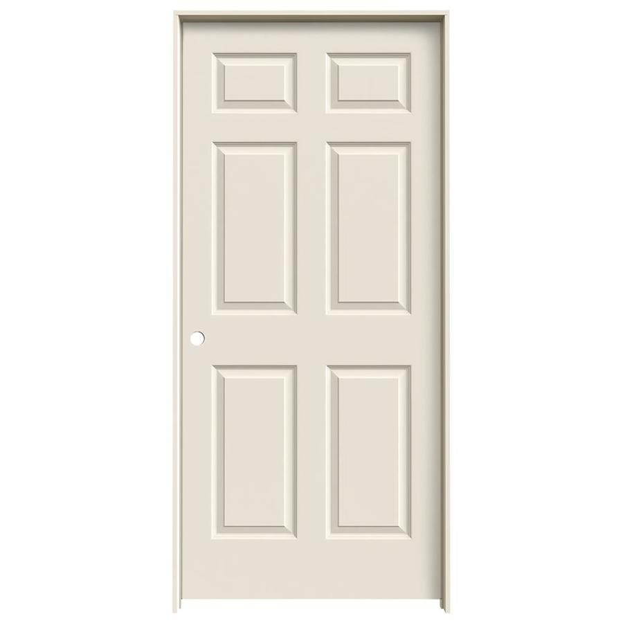 JELD-WEN Colonist Primed Solid Core Molded Composite Prehung Interior Door (Common: 36-in x 80-in; Actual: 37.562-in x 81.688-in)