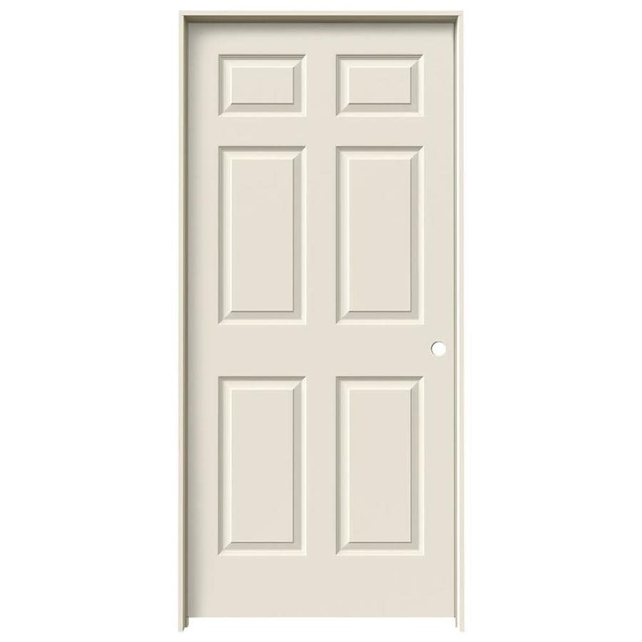 JELD-WEN 6-panel Single Prehung Interior Door (Common: 36-in x 80-in; Actual: 37.562-in x 81.688-in)