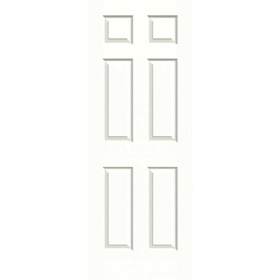 JELD-WEN Snow Storm Hollow Core 6-Panel Slab Interior Door (Common: 30-in x 80-in; Actual: 30-in x 80-in)