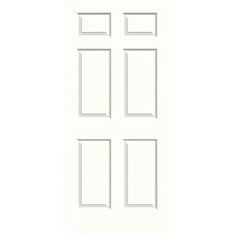 JELD-WEN Colonist Snow Storm Slab Interior Door (Common: 36-in x 80-in; Actual: 36-in x 80-in)