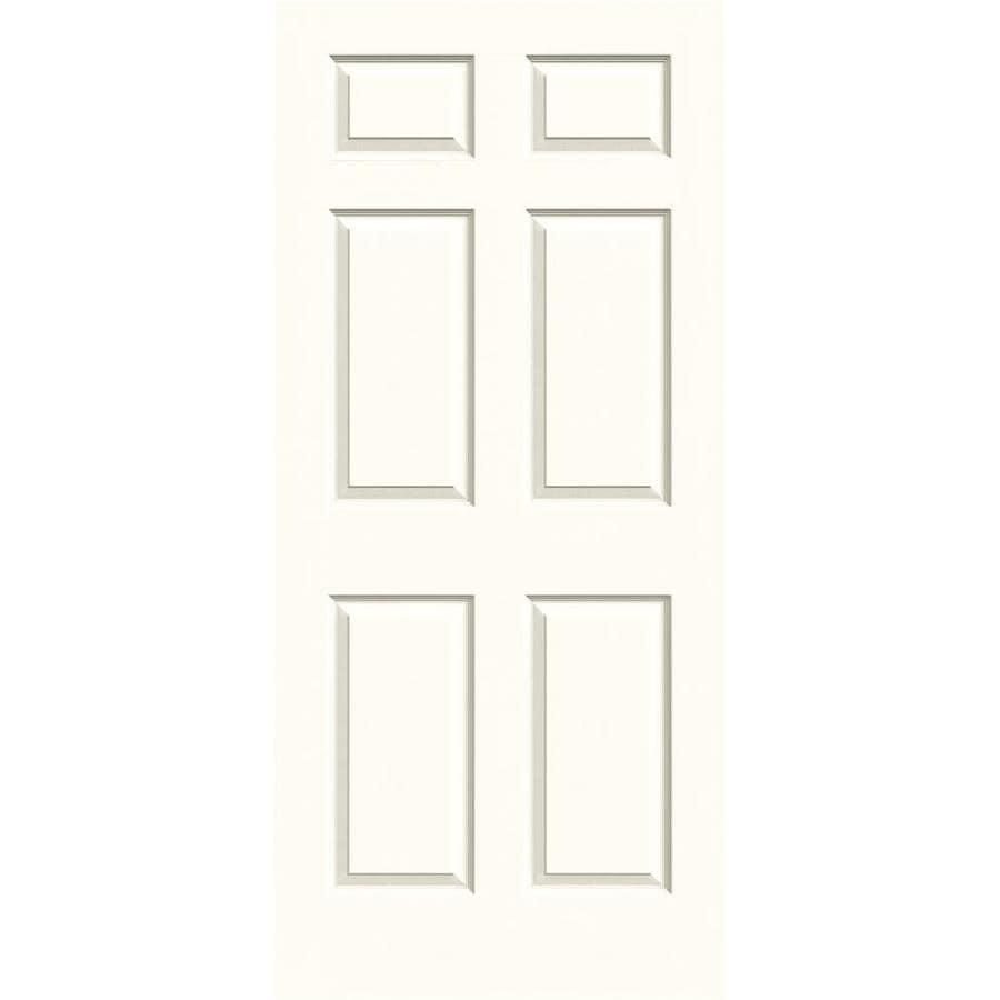 JELD-WEN Moonglow Hollow Core 6-Panel Slab Interior Door (Common: 36-in x 80-in; Actual: 36-in x 80-in)