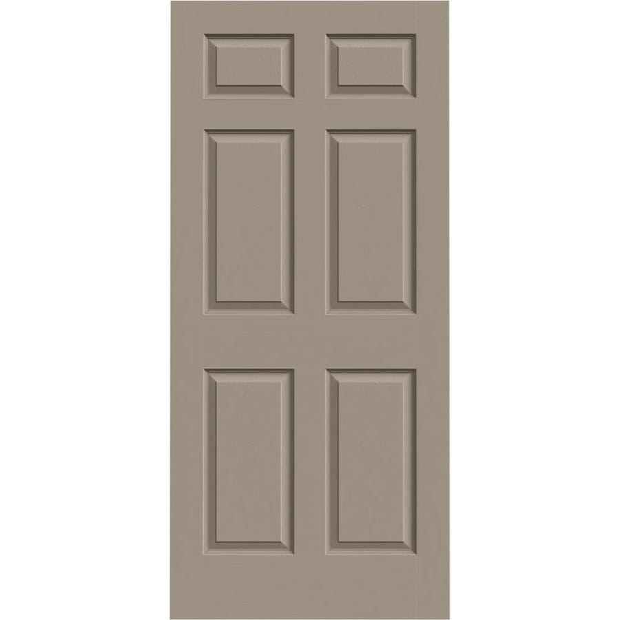 Shop Jeld Wen Colonist Sand Piper 6 Panel Hollow Core Molded Composite Slab Door Common 36 In