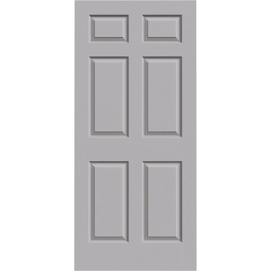 JELD-WEN Driftwood Hollow Core 6-Panel Slab Interior Door (Common: 36-in x 80-in; Actual: 36-in x 80-in)