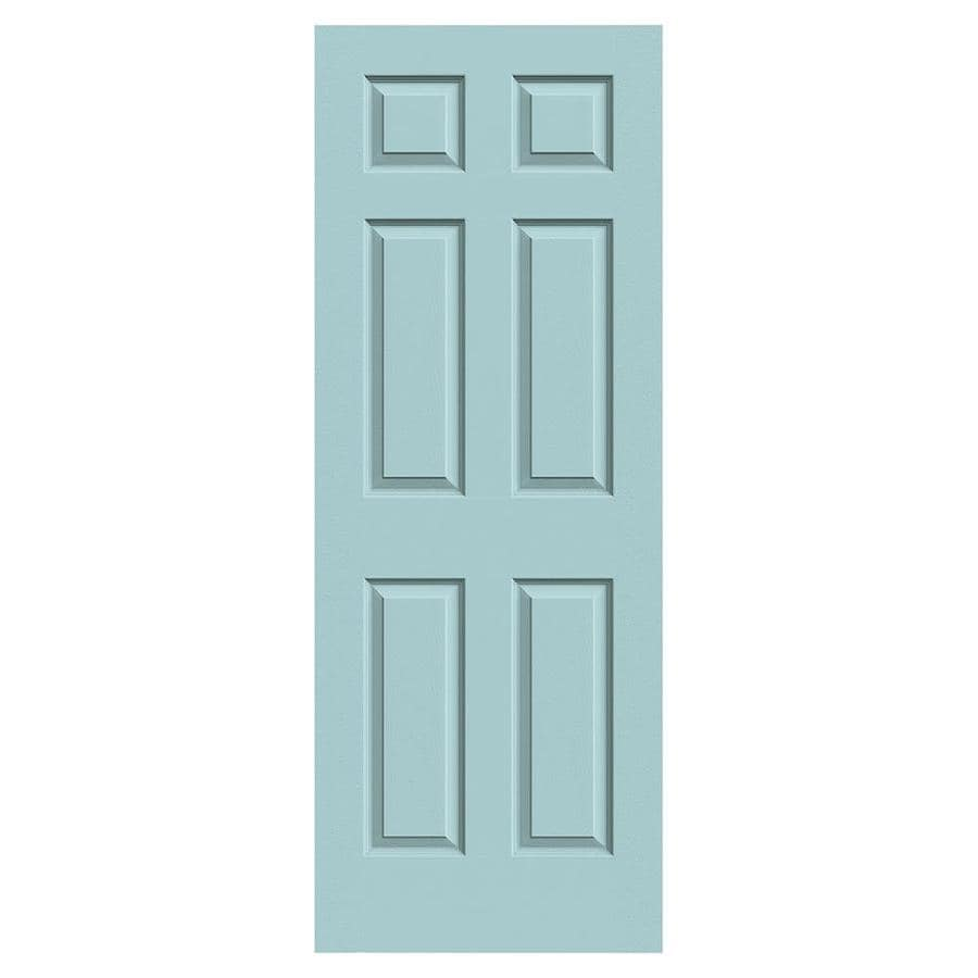 JELD-WEN Sea Mist Hollow Core 6-Panel Slab Interior Door (Common: 24-in x 80-in; Actual: 24-in x 80-in)