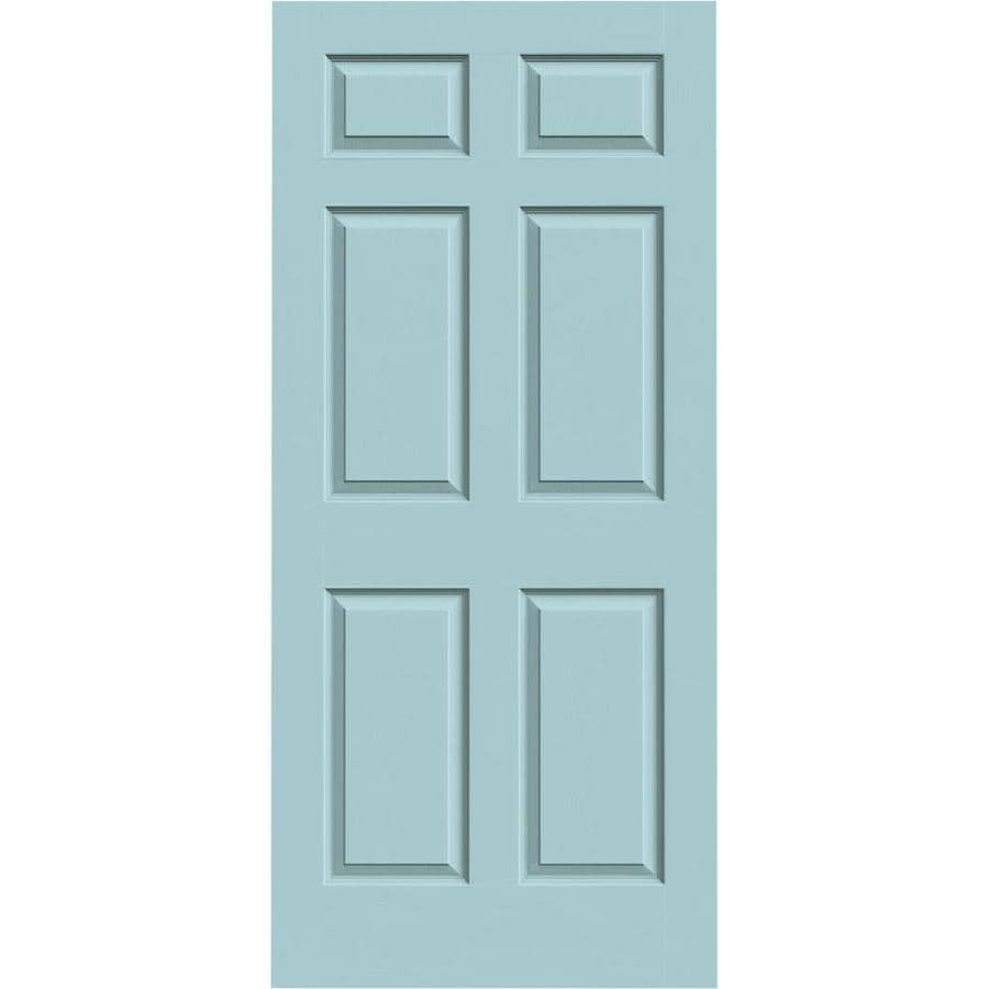 JELD-WEN Sea Mist Hollow Core 6-Panel Slab Interior Door (Common: 36-in x 80-in; Actual: 36-in x 80-in)