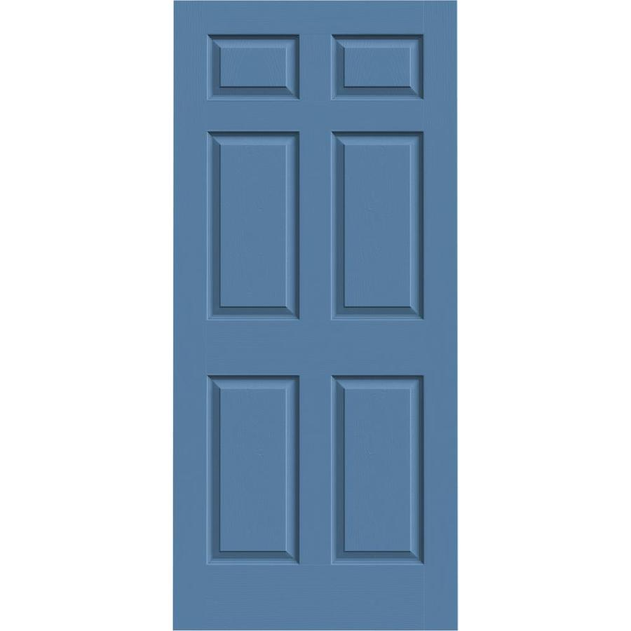 JELD-WEN Blue Heron Hollow Core 6-Panel Slab Interior Door (Common: 36-in x 80-in; Actual: 36-in x 80-in)