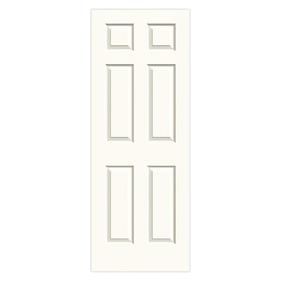 JELD-WEN White Solid Core 6-Panel Slab Interior Door (Common: 24-in x 80-in; Actual: 24-in x 80-in)