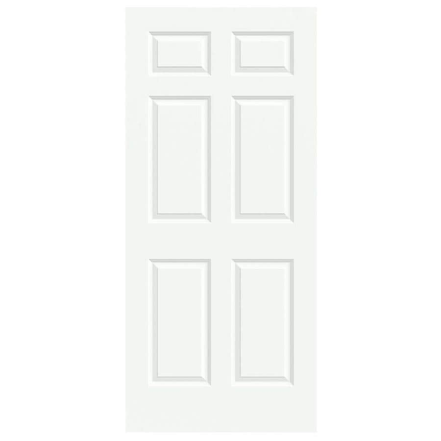 JELD-WEN White Solid Core 6-Panel Slab Interior Door (Common: 36-in x 80-in; Actual: 36-in x 80-in)