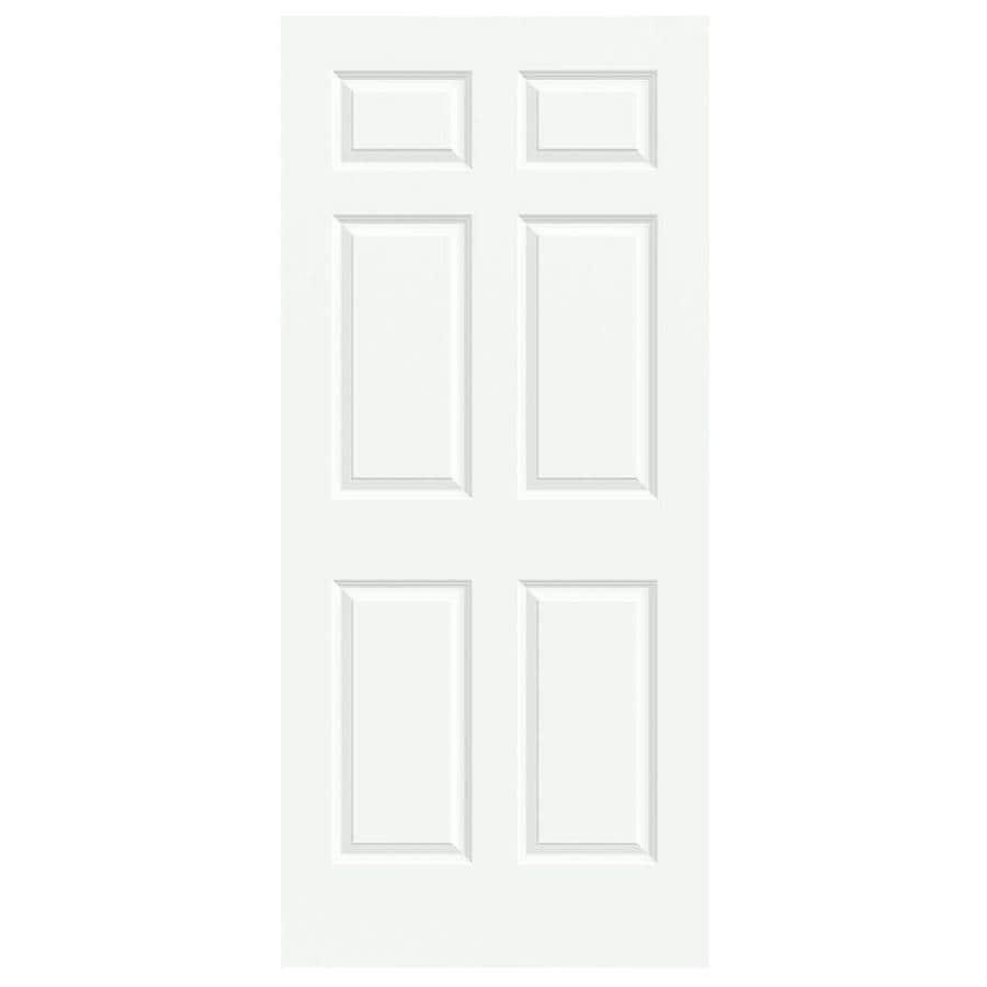 Shop jeld wen colonist white 6 panel solid core molded composite slab door common 36 in x 80 for 6 panel solid core interior doors