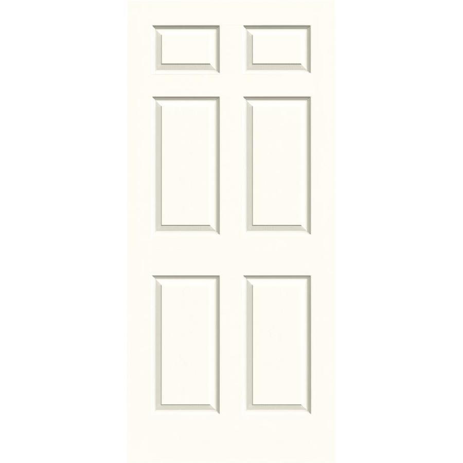 JELD-WEN Moonglow Solid Core 6-Panel Slab Interior Door (Common: 36-in x 80-in; Actual: 36-in x 80-in)