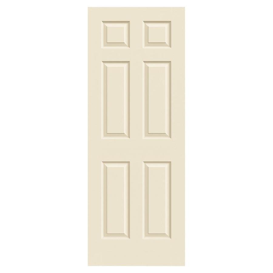 JELD-WEN Cream-N-Sugar Solid Core 6-Panel Slab Interior Door (Common: 32-in x 80-in; Actual: 32-in x 80-in)