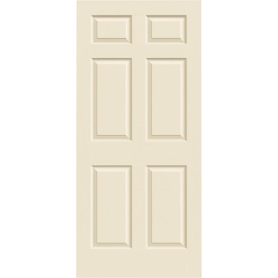 JELD-WEN Colonist Cream-N-Sugar Solid Core Molded Composite Slab Interior Door (Common: 36-in x 80-in; Actual: 36-in x 80-in)