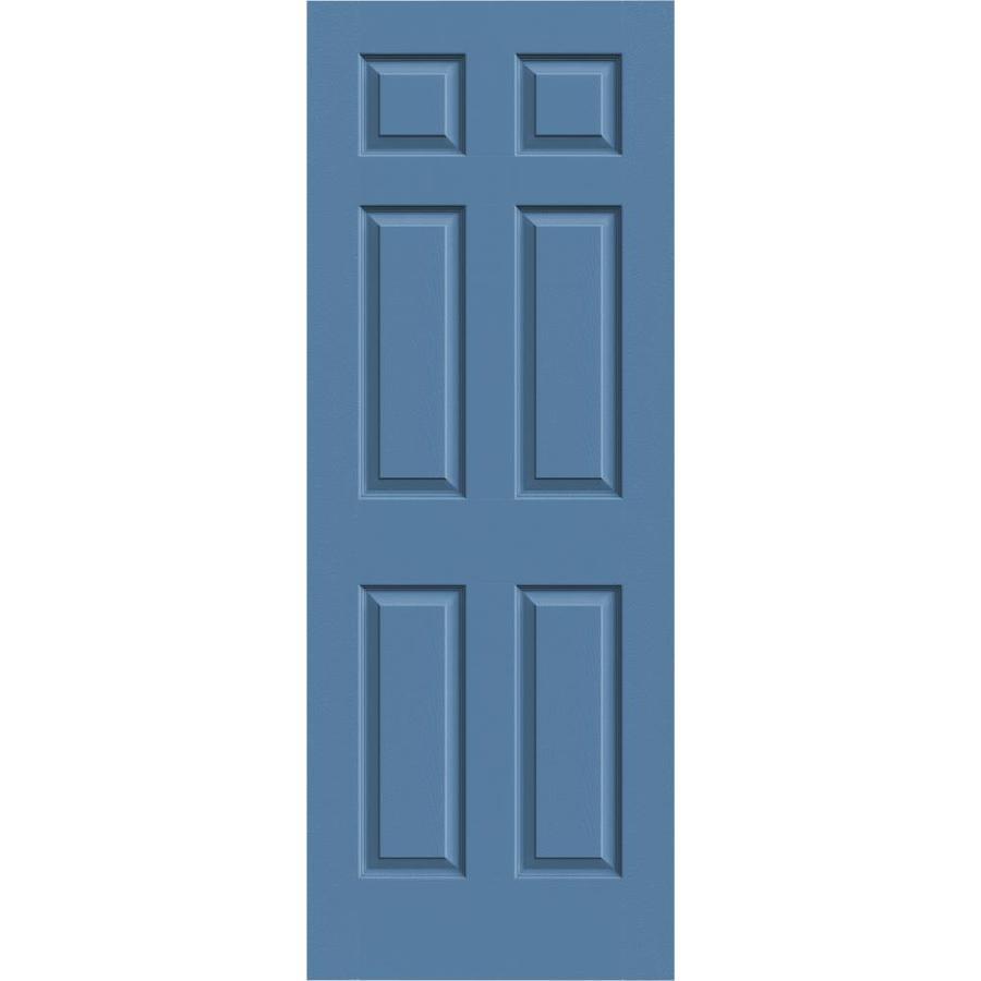 JELD-WEN Colonist Blue Heron Slab Interior Door (Common: 30-in x 80-in; Actual: 30-in x 80-in)