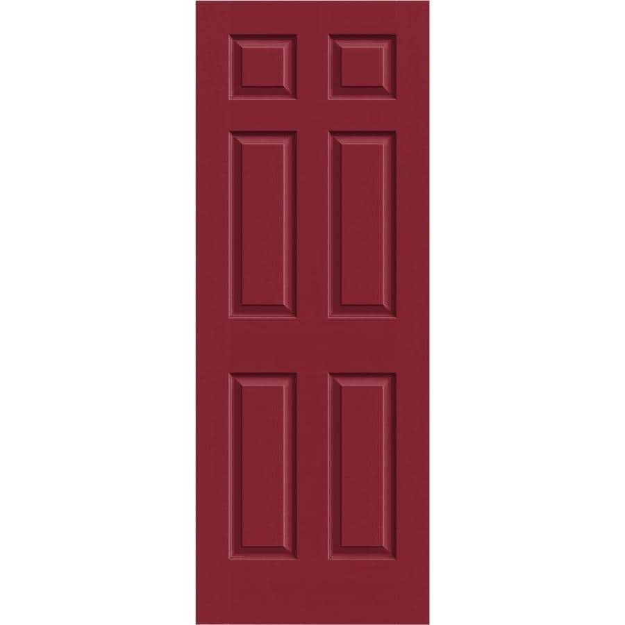 JELD-WEN Barn Red Solid Core 6-Panel Slab Interior Door (Common: 28-in x 80-in; Actual: 28-in x 80-in)