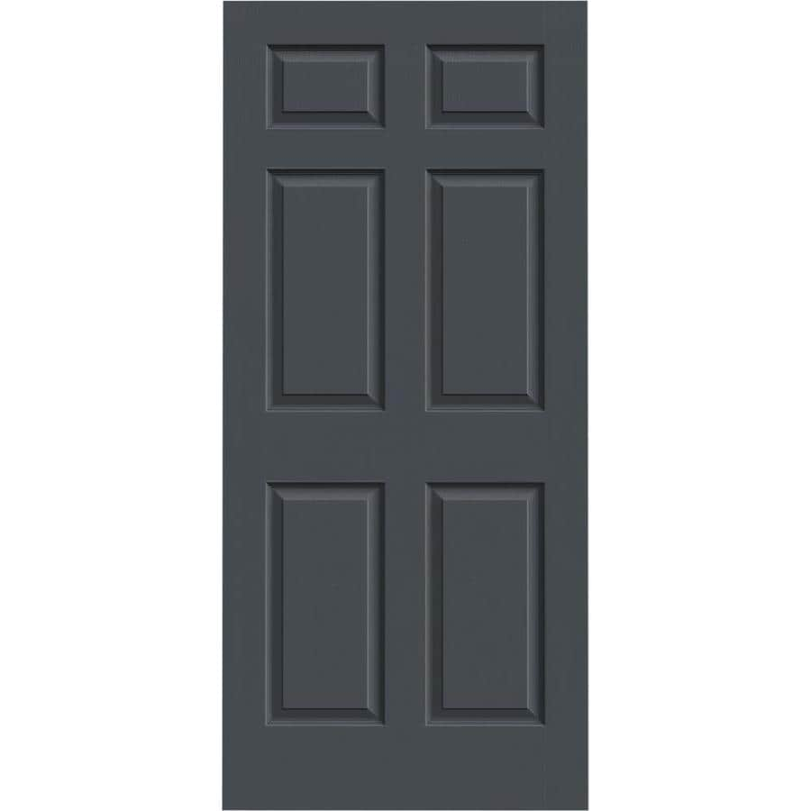 JELD-WEN Slate Solid Core 6-Panel Slab Interior Door (Common: 36-in x 80-in; Actual: 36-in x 80-in)