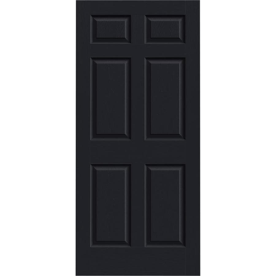 JELD-WEN Midnight Solid Core 6-Panel Slab Interior Door (Common: 36-in x 80-in; Actual: 36-in x 80-in)