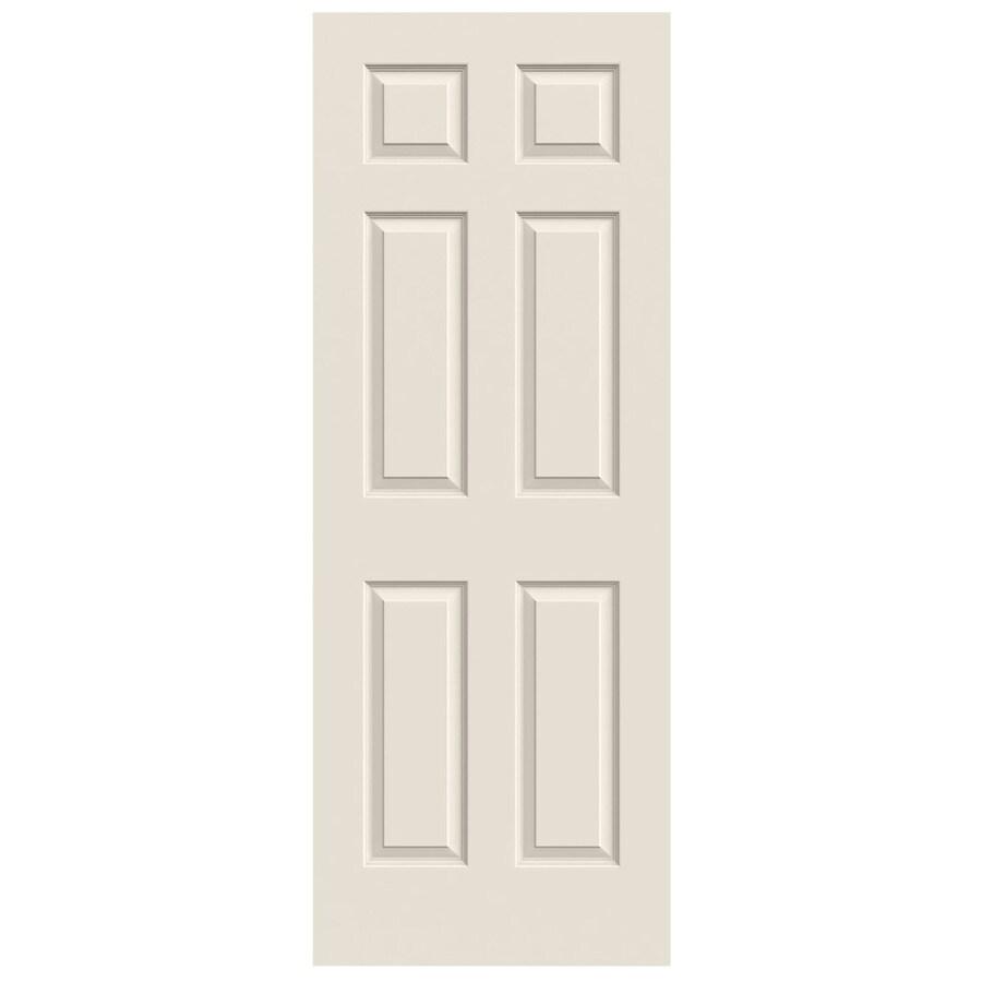JELD-WEN Solid Core 6-Panel Slab Interior Door (Common: 24-in x 80-in; Actual: 24-in x 80-in)