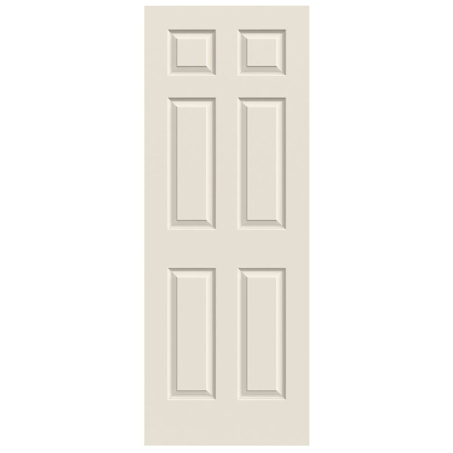 JELD-WEN Solid Core 6-Panel Slab Interior Door (Common: 30-in x 80-in; Actual: 30-in x 80-in)