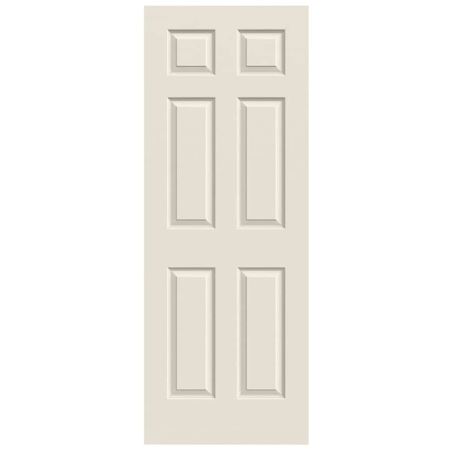 Jeld Wen Colonist Primed 6 Panel Solid Core Molded Composite Slab Door 30