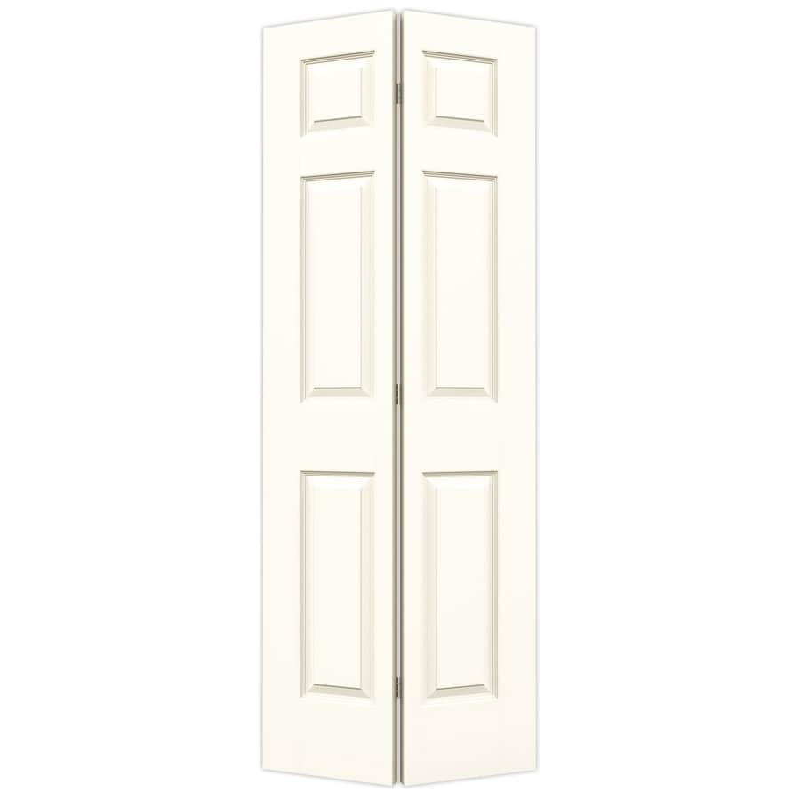 JELD-WEN Colonist White Hollow Core Molded Composite Bi-Fold Closet Interior Door with Hardware (Common: 24-in x 80-in; Actual: 23.5-in x 79-in)