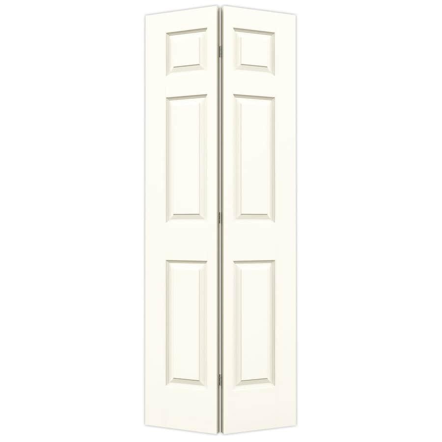 JELD-WEN White Hollow Core 6-Panel Bi-Fold Closet Interior Door (Common: 24-in x 80-in; Actual: 23.5-in x 79-in)