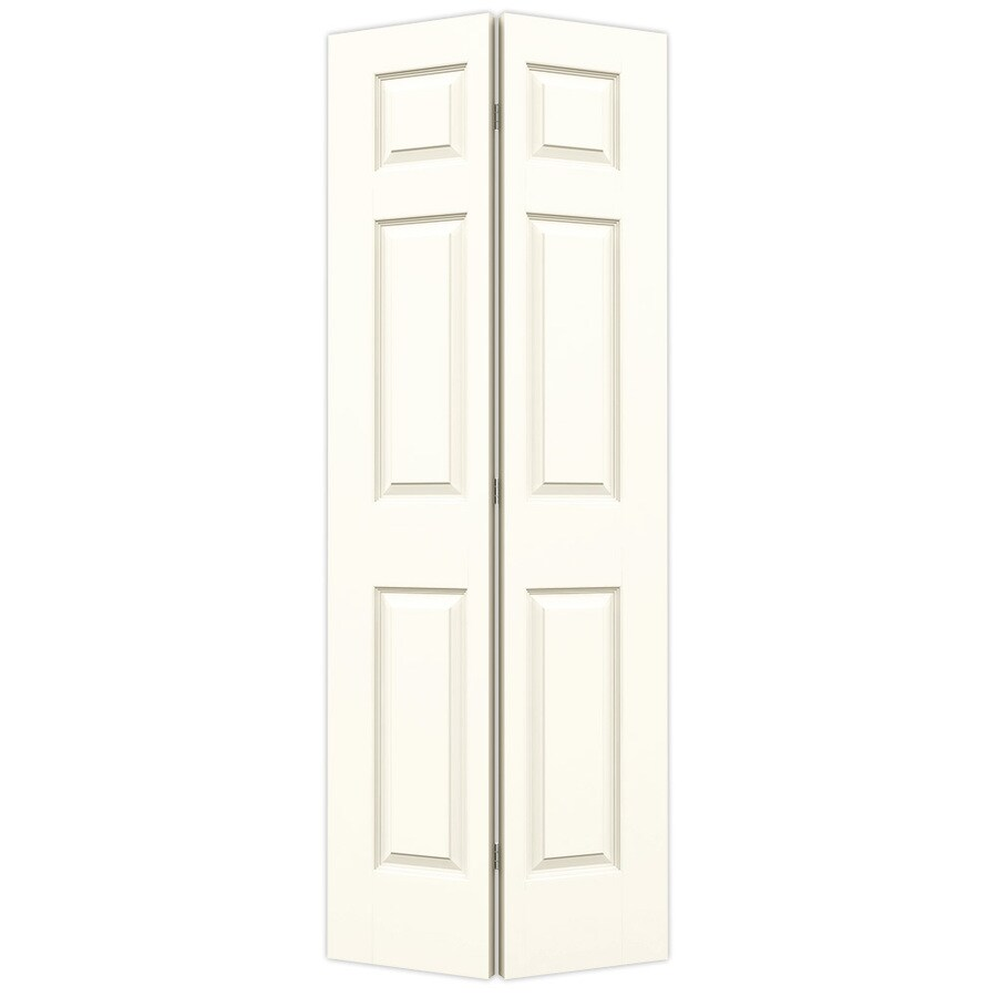 JELD-WEN Colonist White Hollow Core Molded Composite Bi-Fold Closet Interior Door with Hardware (Common: 30-in x 80-in; Actual: 29.5-in x 79-in)