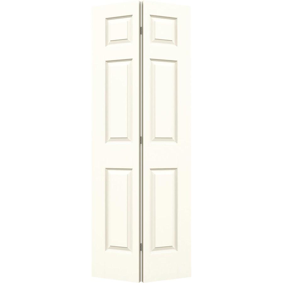 JELD-WEN Colonist White Bi-Fold Closet Interior Door (Common: 36-in x 80-in; Actual: 35.5-in x 79-in)