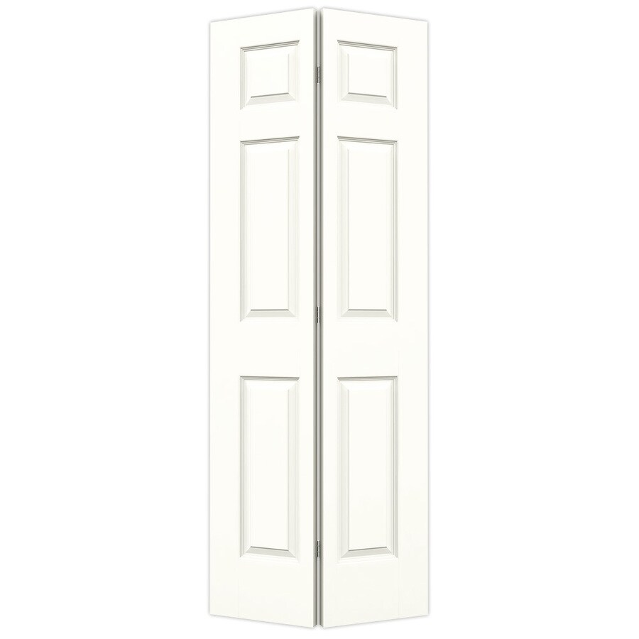 JELD-WEN Colonist Snow Storm Hollow Core Molded Composite Bi-Fold Closet Interior Door with Hardware (Common: 24-in x 80-in; Actual: 23.5-in x 79-in)