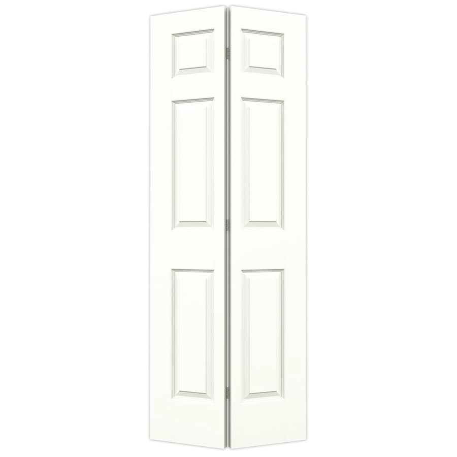 JELD-WEN Colonist Snow Storm Hollow Core Molded Composite Bi-Fold Closet Interior Door with Hardware (Common: 30-in x 80-in; Actual: 29.5-in x 79-in)