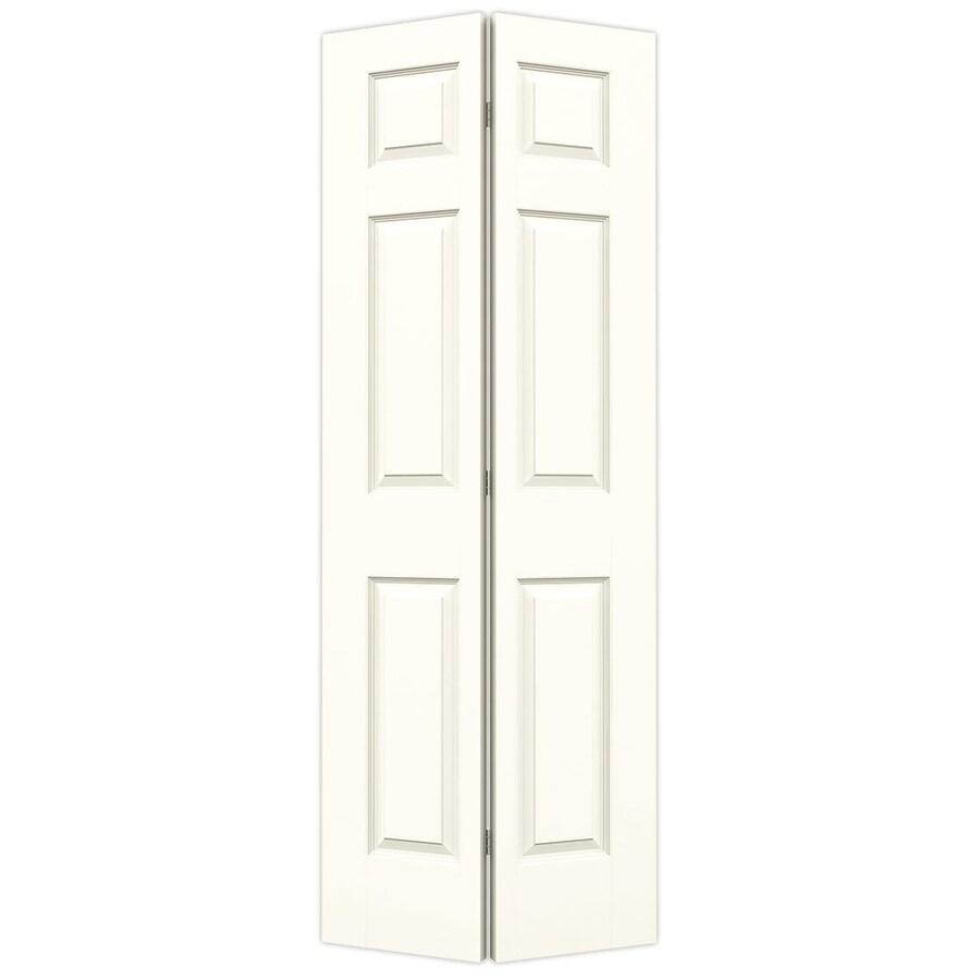 JELD-WEN Moonglow Hollow Core 6-Panel Bi-Fold Closet Interior Door (Common: 28-in x 80-in; Actual: 27.5-in x 79-in)