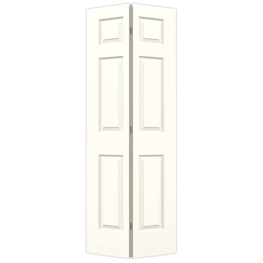 JELD-WEN Colonist Moonglow Hollow Core Molded Composite Bi-Fold Closet Interior Door with Hardware (Common: 30-in x 80-in; Actual: 29.5-in x 79-in)