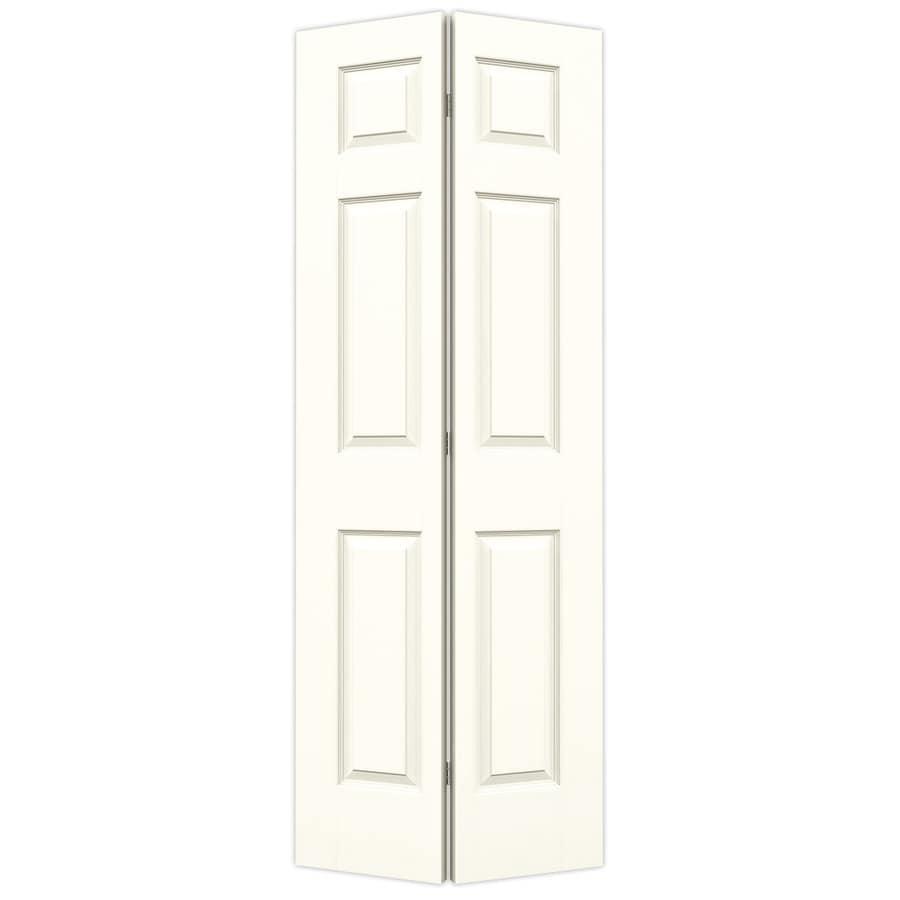 JELD-WEN Moonglow Hollow Core 6-Panel Bi-Fold Closet Interior Door (Common: 32-in x 80-in; Actual: 31.5-in x 79-in)