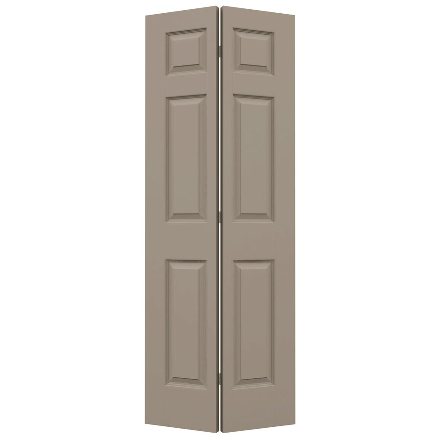 JELD-WEN Colonist Sand Piper Hollow Core Molded Composite Bi-Fold Closet Interior Door with Hardware (Common: 32-in x 80-in; Actual: 31.5000-in x 79-in)