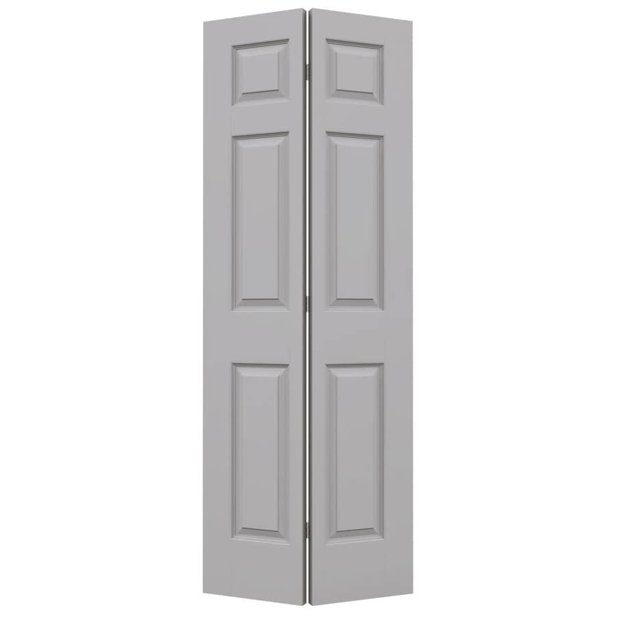 JELD-WEN Colonist Driftwood Bi-Fold Closet Interior Door (Common: 28-in x 80-in; Actual: 27.5000-in x 79-in)