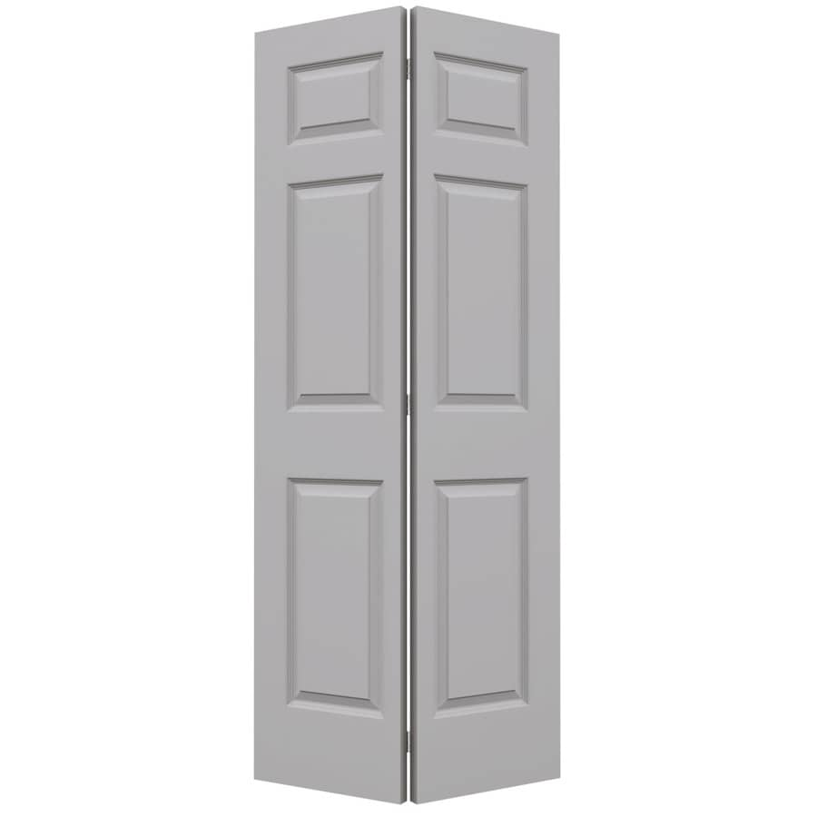 JELD-WEN Colonist Drift Hollow Core Molded Composite Bi-Fold Closet Interior Door with Hardware (Common: 36-in x 80-in; Actual: 35.5000-in x 79-in)