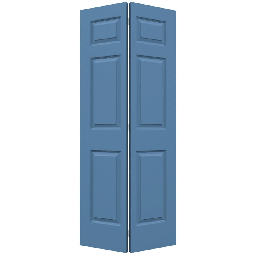 JELD-WEN Blue Heron Hollow Core 6-Panel Bi-Fold Closet Interior Door (Common: 36-in x 80-in; Actual: 35.5-in x 79-in)