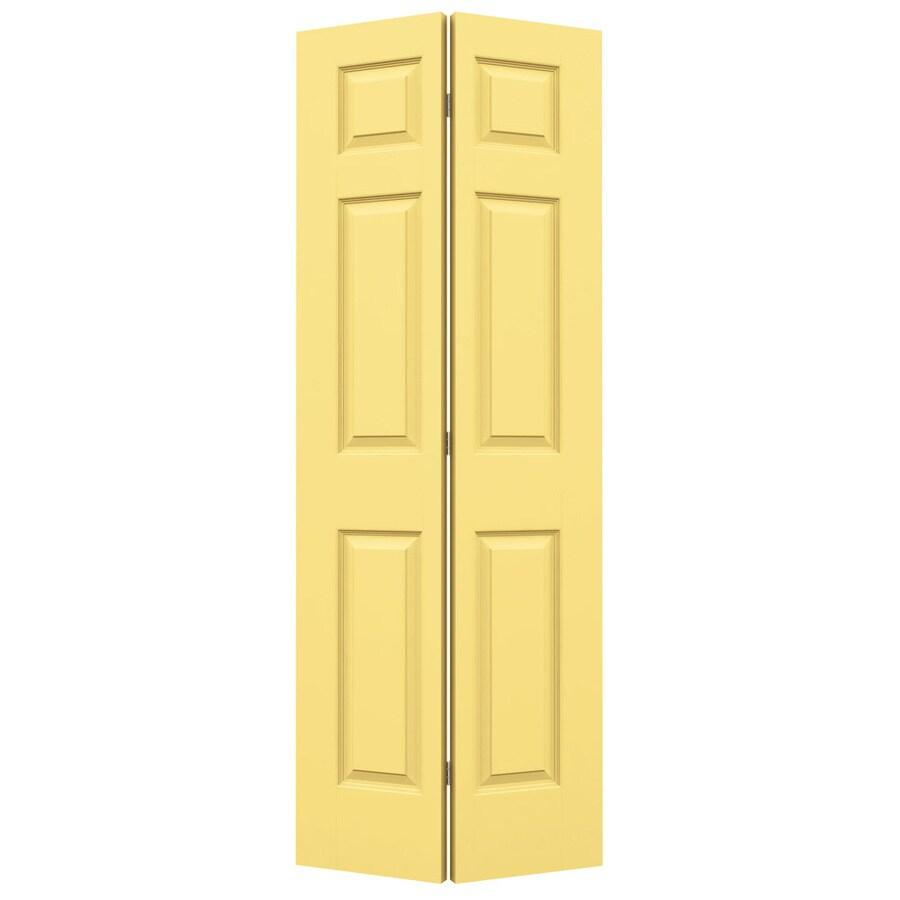 JELD-WEN Marigold Hollow Core 6-Panel Bi-Fold Closet Interior Door (Common: 24-in x 80-in; Actual: 23.5-in x 79-in)