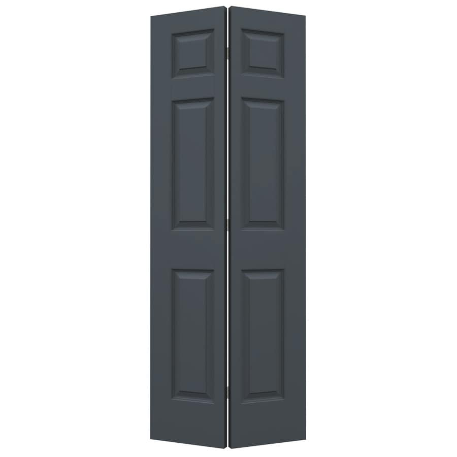 JELD-WEN Slate Hollow Core 6-Panel Bi-Fold Closet Interior Door (Common: 30-in x 80-in; Actual: 29.5-in x 79-in)