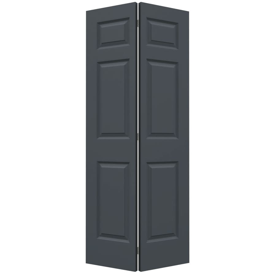 JELD-WEN Colonist Slate Hollow Core Molded Composite Bi-Fold Closet Interior Door with Hardware (Common: 36-in x 80-in; Actual: 35.5000-in x 79-in)