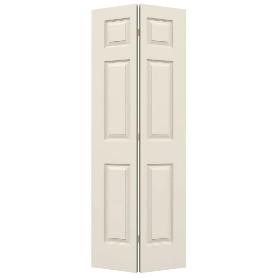 JELD-WEN Hollow Core 6-Panel Bi-Fold Closet Interior Door (Common: 30-in x 80-in; Actual: 29.5-in x 79-in)