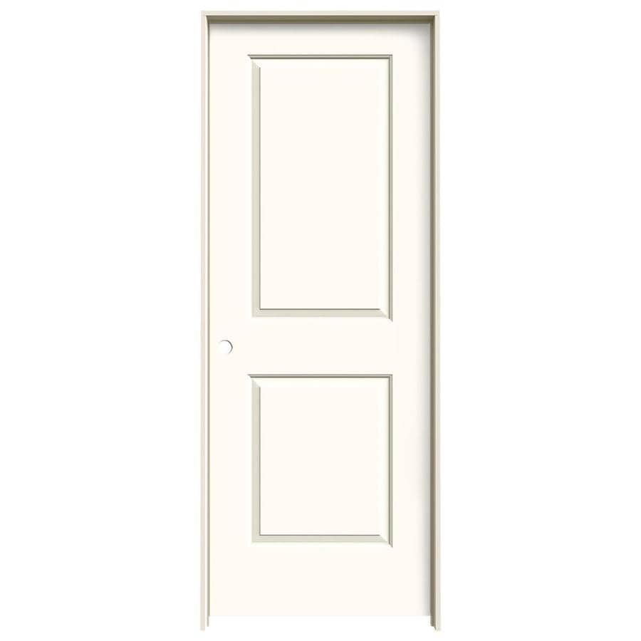 JELD-WEN Cambridge White Prehung Solid Core 2-Panel Square Interior Door (Common: 32-in x 80-in; Actual: 33.562-in x 81.688-in)