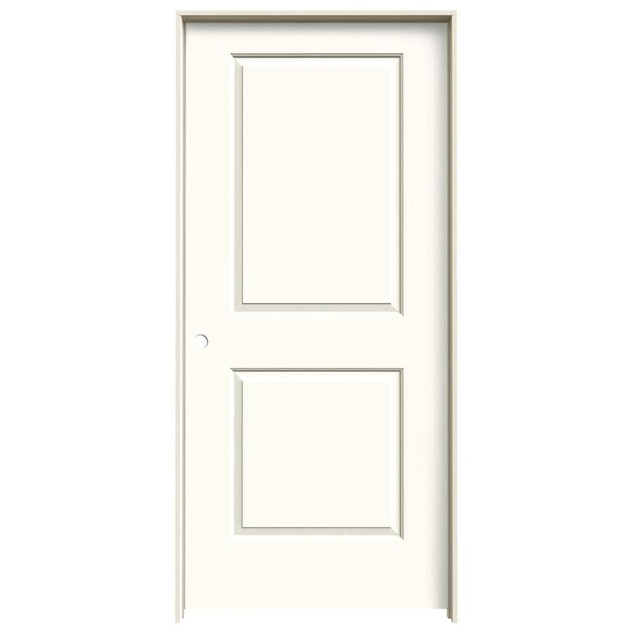 JELD-WEN Cambridge White Prehung Solid Core 2-Panel Square Interior Door (Common: 36-in x 80-in; Actual: 37.562-in x 81.688-in)