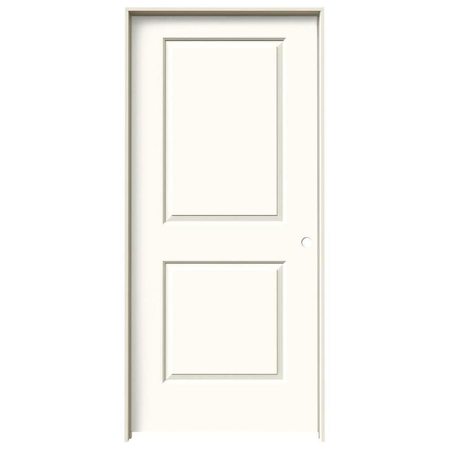 JELD-WEN Cambridge White Solid Core Molded Composite Single Prehung Interior Door (Common: 36-in x 80-in; Actual: 37.5620-in x 81.6880-in)