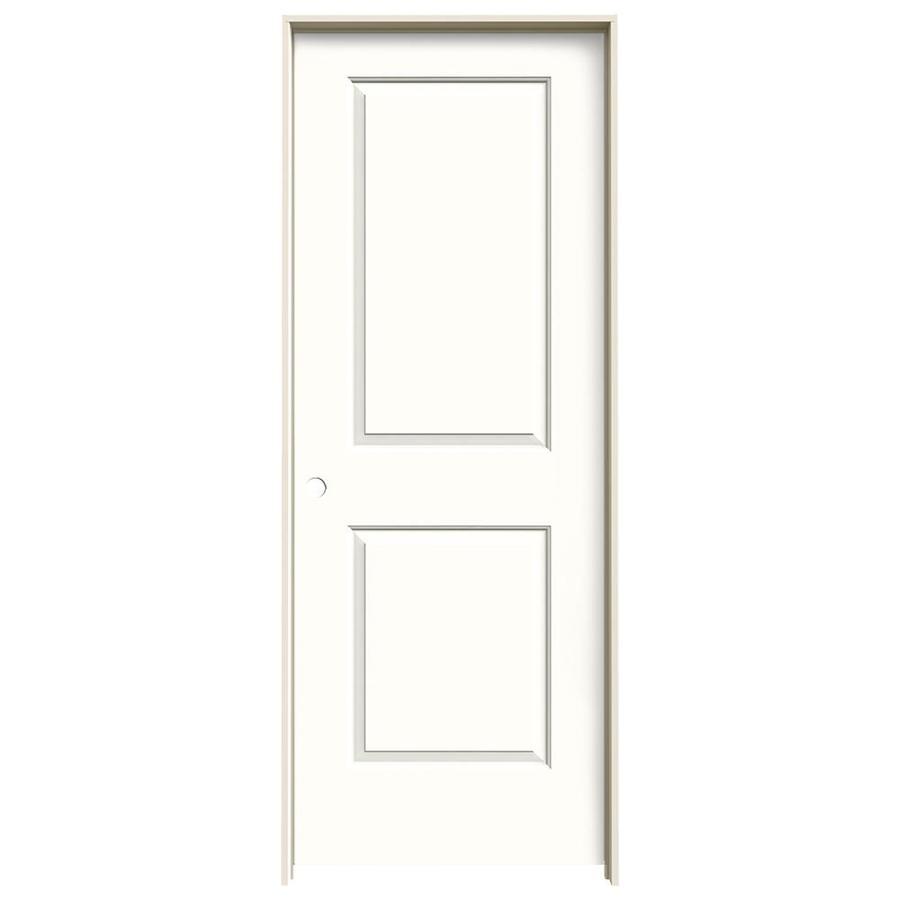 JELD-WEN Cambridge Snow Storm 2-panel Square Single Prehung Interior Door (Common: 30-in x 80-in; Actual: 31.562-in x 81.688-in)