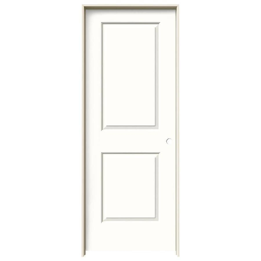 JELD-WEN Cambridge Snow Storm Prehung Solid Core 2-Panel Square Interior Door (Common: 30-in x 80-in; Actual: 31.562-in x 81.688-in)