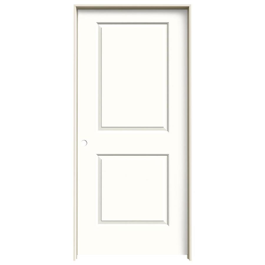 JELD-WEN Cambridge Snow Storm Solid Core Molded Composite Single Prehung Interior Door (Common: 36-in x 80-in; Actual: 37.562-in x 81.688-in)