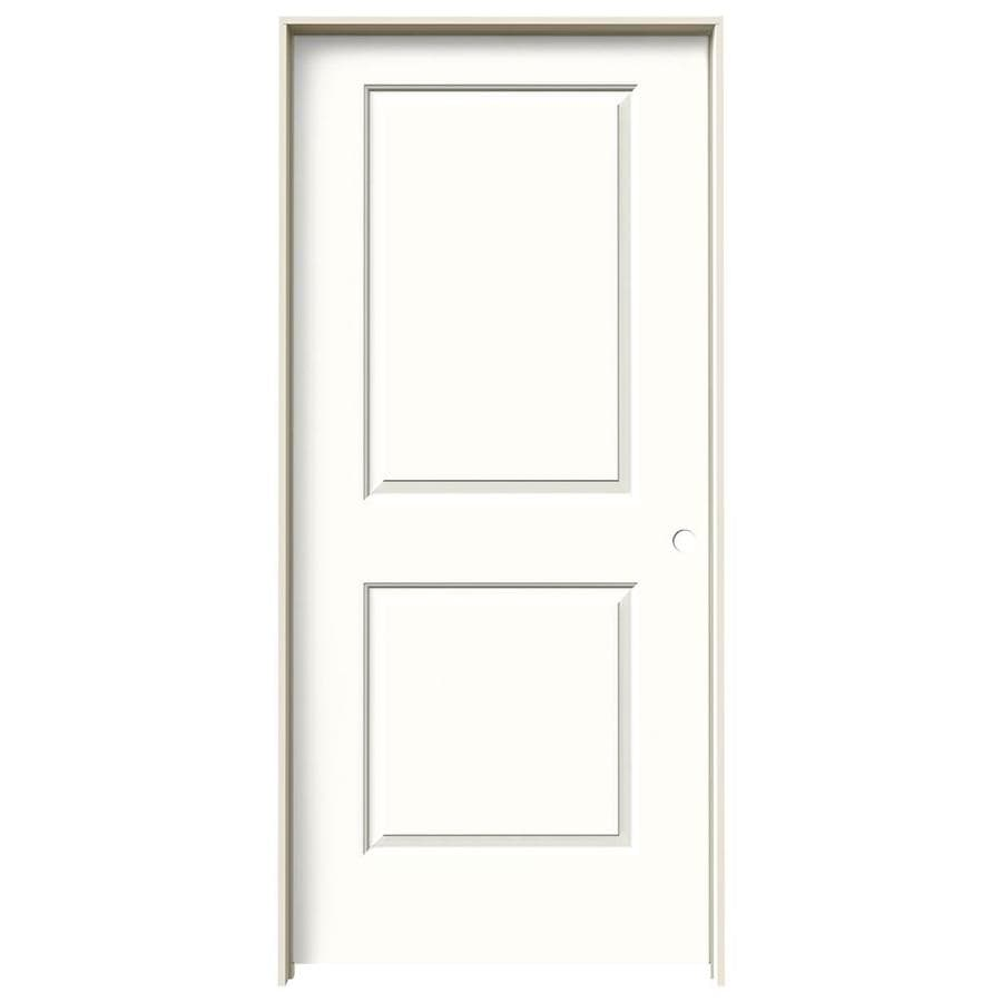 JELD-WEN Cambridge Snow Storm Prehung Solid Core 2-Panel Square Interior Door (Common: 36-in x 80-in; Actual: 37.562-in x 81.688-in)